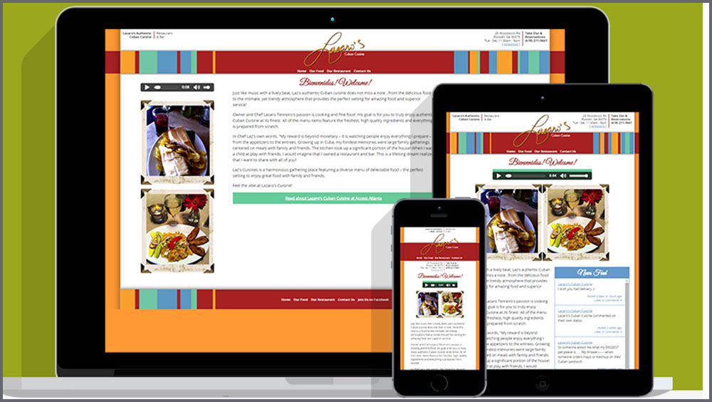 Lazaro's Cuban Cuisine Restaurant & Bar Web Site