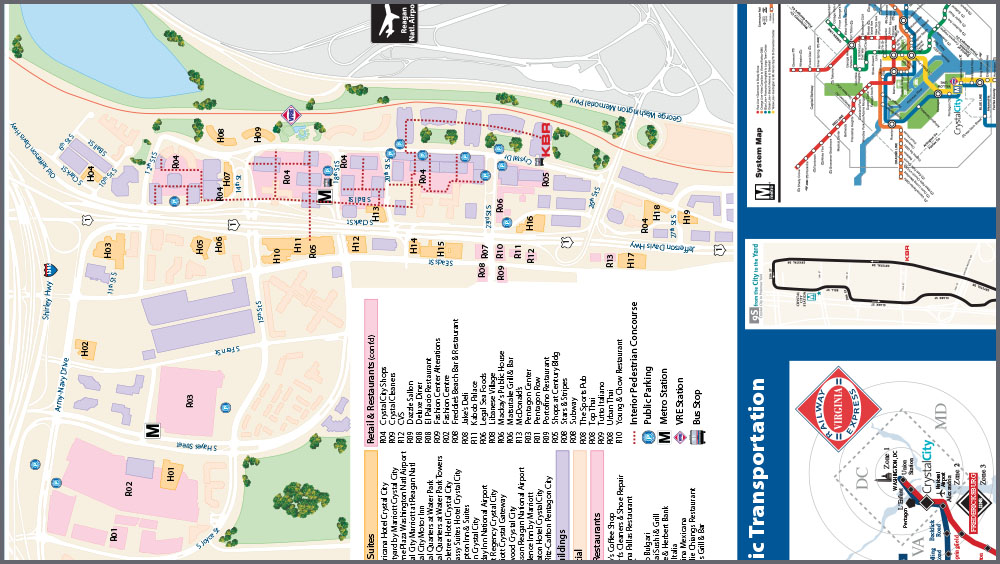 Crystal City Map